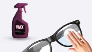 Using vehicle wax to get rid of scratches on your glasses